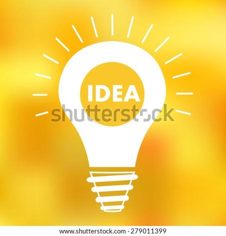 bulb icon, concept of idea #279011399