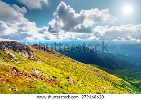 Chorna hora mountain range.  Carpathian mountains. Ukraine #279168620