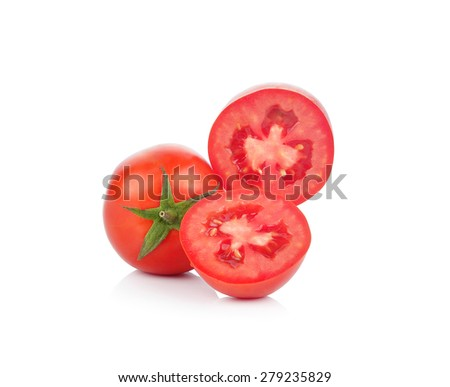 A Fresh tomatoes isolated on white. #279235829
