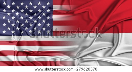 Relations between two countries. USA and Monaco. #279620570