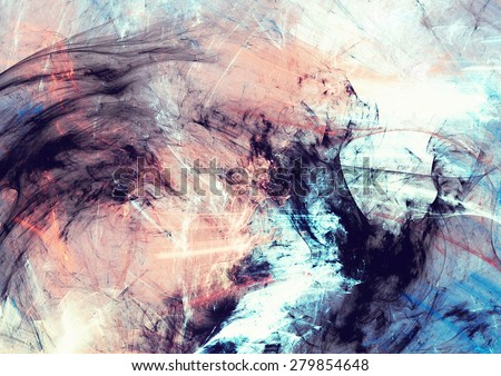 Abstract color dynamic background with lighting effect. Futuristic bright painting texture for creativity graphic design. Shiny pattern for wallpaper, poster, cover booklet, flyer, banner. Fractal art
