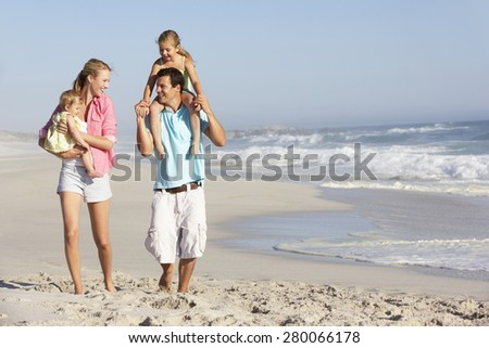 Family Having Fun On Beach #280066178