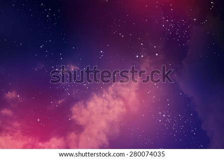 Stars in the night sky,nebula and galaxy Royalty-Free Stock Photo #280074035