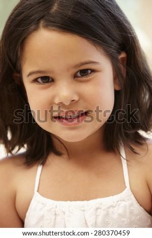 Young Hispanic girl portrait
