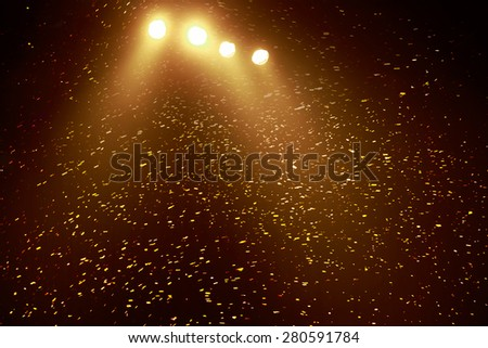 Background image of stage of concert in color lights