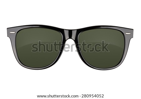Black sunglasses isolated on white background. With clipping path Royalty-Free Stock Photo #280954052