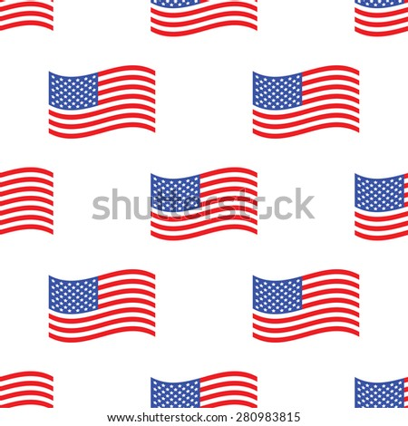 Image of american flag repeated on white background