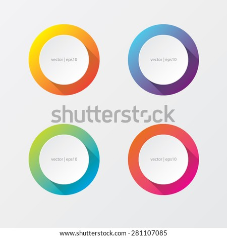 Round Abstract Vector Banners