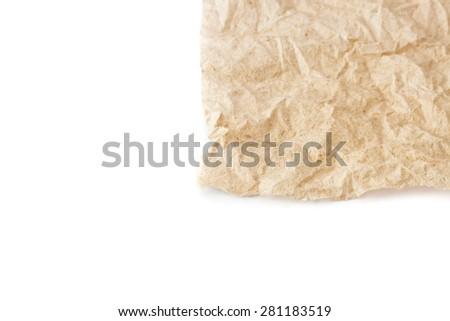 abstract crumpled tissue paper texture background #281183519