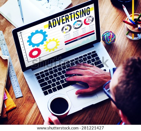 Advertise Advertising Advertisement Branding Concept Royalty-Free Stock Photo #281221427