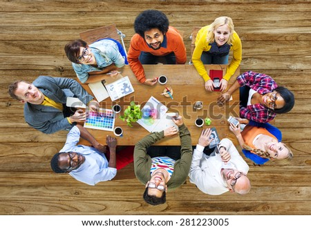Group of Diverse Designers Having a Meeting Concept #281223005