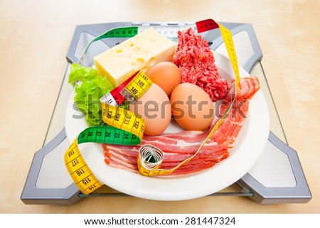Low carb diet Royalty-Free Stock Photo #281447324