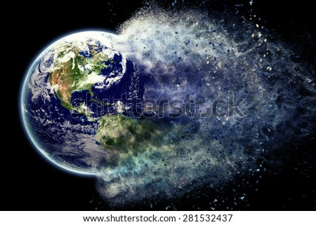 Earth dust - Elements of this image furnished by NASA