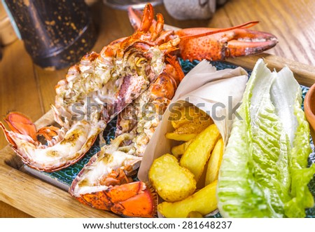 Lobster and potato wedges #281648237