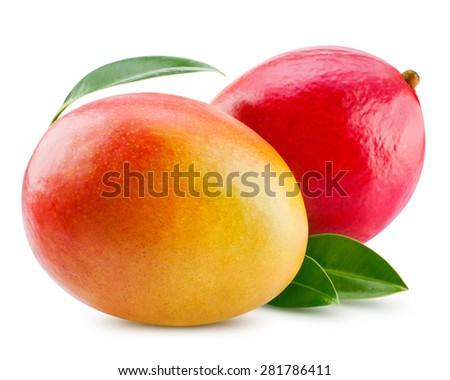fresh mango isolated on white + Clipping Path #281786411