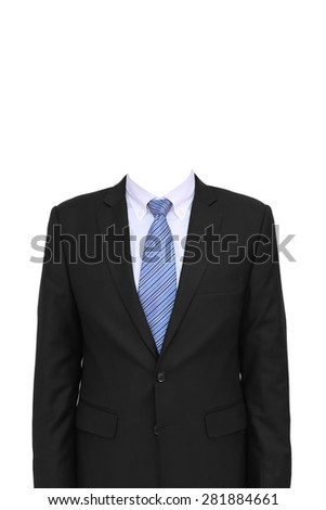 portrait of headless businessman on whte background #281884661