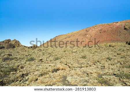 National Park Timanfaya on the island of Lanzarote, Canary Islands, Spain #281913803