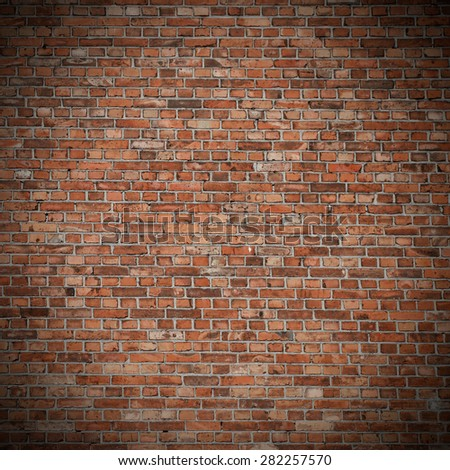 old brick wall texture background and vignette #282257570