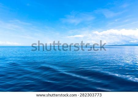 blue sea blue sky horizon #282303773