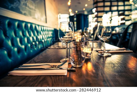 table set restaurant #282446912