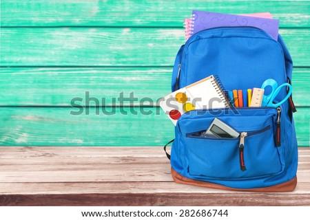 School, bag, backpack. Royalty-Free Stock Photo #282686744