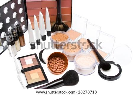 make- up set on white background #28278718