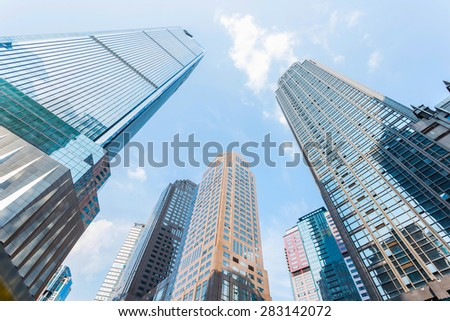 low angle view of skyscrapers #283142072
