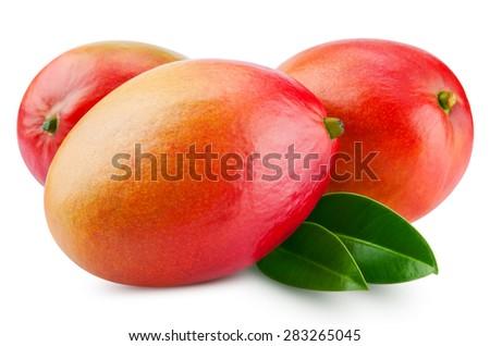 fresh mango isolated on white + Clipping Path #283265045