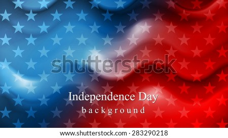 Bright wavy Independence Day background. Vector design