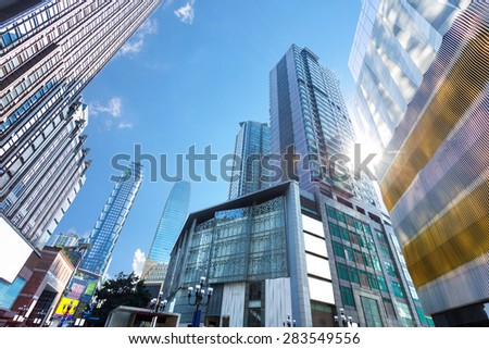 low angle view of skyscrapers #283549556