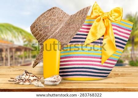 Stuff, beach, outdoor. #283768322