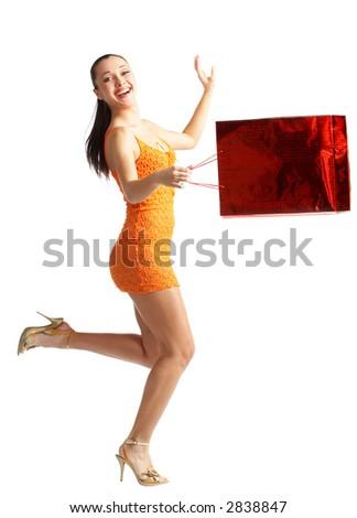 Shopping happy woman #2838847