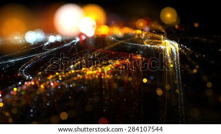 Abstract Background Lights Particles Rays #284107544