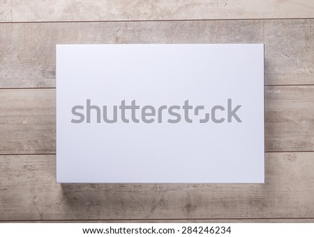 wood wall and blank frame