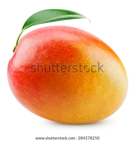 fresh mango isolated on white + Clipping Path #284278250