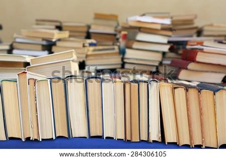 old books at the flea market #284306105