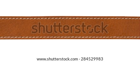 leather with seam, belt background Royalty-Free Stock Photo #284529983