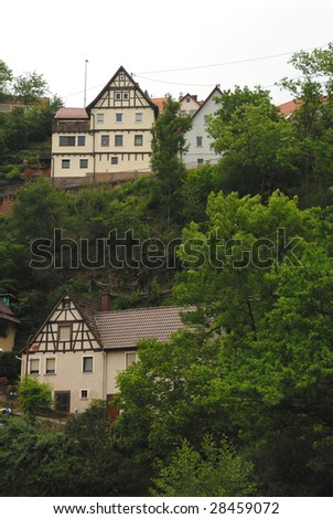 Typical German houses in landscape #28459072
