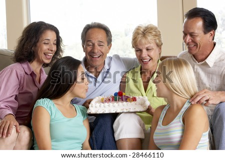 Two Families Celebrating A Birthday Together