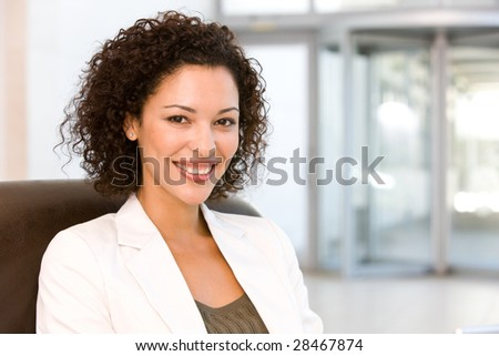 Portrait of attractive business woman #28467874