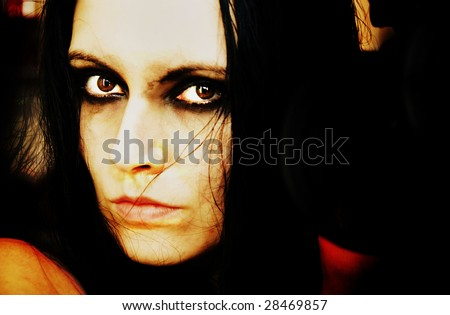 creepy portrait of gothic girl #28469857