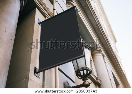 Signboard on the wall