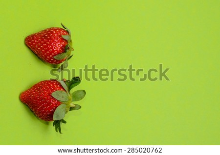 Fresh Ripe Strawberry Fruit on a Colored Background #285020762