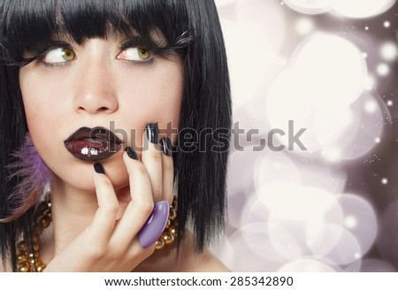 Fashion Brunette Model Portrait #285342890