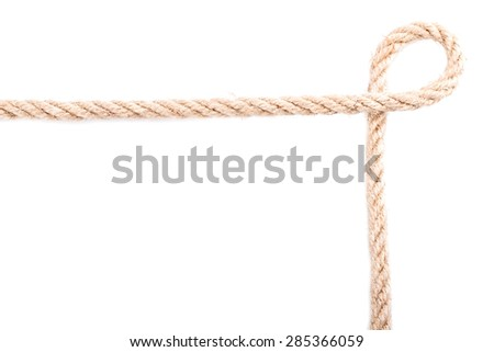 Rope frame knot Isolated on white background #285366059
