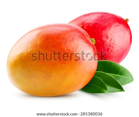 fresh mango isolated on white + Clipping Path  #285380036