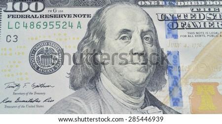 lots of dollars closeup #285446939