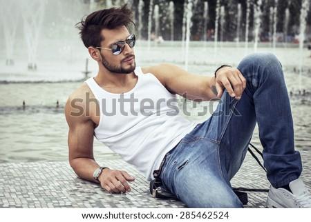 Sexy model in aviator sunglasses #285462524