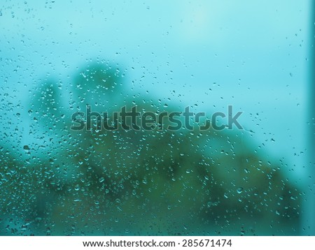 Color abstract blurred backgrounds with drops of water on glass. #285671474