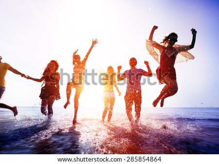 Friendship Freedom Beach Summer Holiday Concept #285854864
